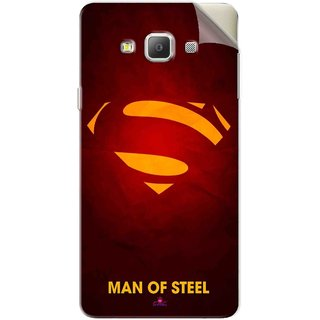 Snooky Printed Man Of Steel Supper Man Pvc Vinyl Mobile Skin Sticker For Samsung Galaxy E7