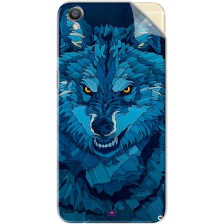 Snooky Printed southside festival wolf Pvc Vinyl Mobile Skin Sticker For Oppo F1 Plus