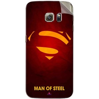 Snooky Printed Man Of Steel Supper Man Pvc Vinyl Mobile Skin Sticker For Samsung Galaxy S6 Edge
