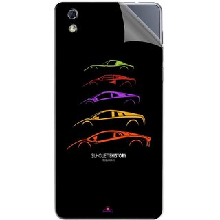 Snooky Printed silhouette history car Pvc Vinyl Mobile Skin Sticker For LYF water 1