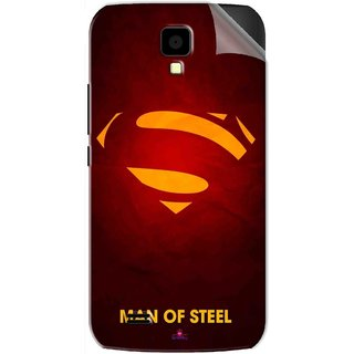 Snooky Printed Man Of Steel Supper Man Pvc Vinyl Mobile Skin Sticker For Gionee Pioneer P2S