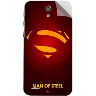 Snooky Printed Man Of Steel Supper Man Pvc Vinyl Mobile Skin Sticker For InFocus M260