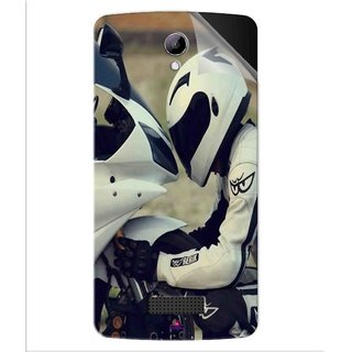 Snooky Printed motorcycle lover Pvc Vinyl Mobile Skin Sticker For LYF Wind 3