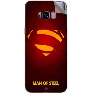 Snooky Printed Man Of Steel Supper Man Pvc Vinyl Mobile Skin Sticker For Samsung Galaxy S8