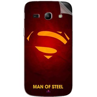Snooky Printed Man Of Steel Supper Man Pvc Vinyl Mobile Skin Sticker For Samsung Galaxy Star Advance
