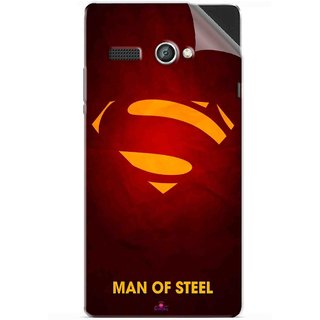 Snooky Printed Man Of Steel Supper Man Pvc Vinyl Mobile Skin Sticker For Lava Flair P1