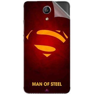 Snooky Printed Man Of Steel Supper Man Pvc Vinyl Mobile Skin Sticker For Intex Aqua Freedom