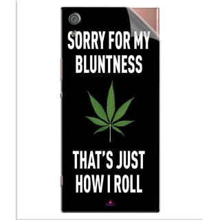 Snooky Printed Sorry for my bluntness Pvc Vinyl Mobile Skin Sticker For Sony Xperia x1a Ultra