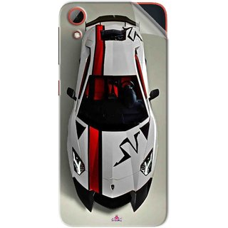 Snooky Printed sports cars and bikes Pvc Vinyl Mobile Skin Sticker For HTC Desire 628