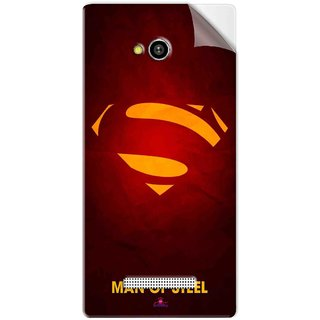 Snooky Printed Man Of Steel Supper Man Pvc Vinyl Mobile Skin Sticker For Lava Flair Z1