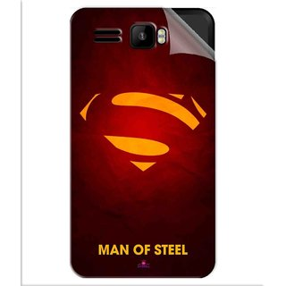 Snooky Printed Man Of Steel Supper Man Pvc Vinyl Mobile Skin Sticker For Intex Aqua R3