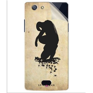 Snooky Printed Spiderman superhero silhouette posters Pvc Vinyl Mobile Skin Sticker For Oppo Neo 5