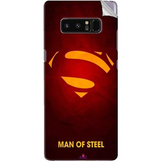 Snooky Printed Man Of Steel Supper Man Pvc Vinyl Mobile Skin Sticker For Samsung Galaxy Note 8