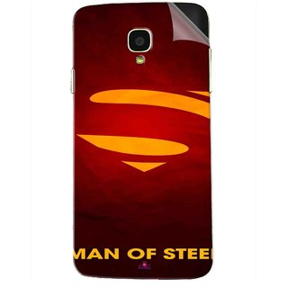 Snooky Printed Man Of Steel Supper Man Pvc Vinyl Mobile Skin Sticker For Micromax Bolt Q325