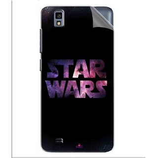 Snooky Printed star wars black Pvc Vinyl Mobile Skin Sticker For Gionee Pioneer P2M