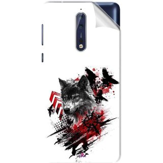 Snooky Printed wolf polka trash Pvc Vinyl Mobile Skin Sticker For Nokia 9