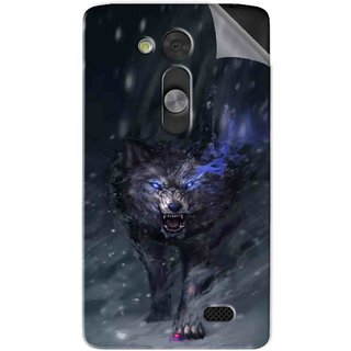 Snooky Printed Wolf Spirit Animal Pvc Vinyl Mobile Skin Sticker For LG L Fino