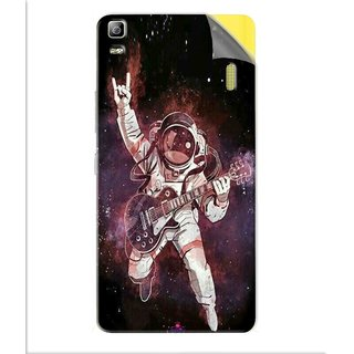 Snooky Printed Rock Astronaut Pvc Vinyl Mobile Skin Sticker For Lenovo K3 Note