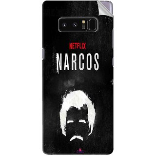 Snooky Printed Netflix Narcos Pvc Vinyl Mobile Skin Sticker For Samsung Galaxy Note 8
