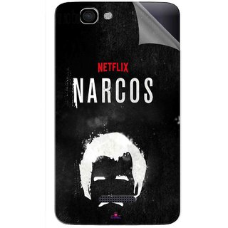 Snooky Printed Netflix Narcos Pvc Vinyl Mobile Skin Sticker For Micromax Canvas 2 A120