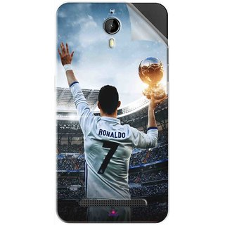 Snooky Printed Ronaldo Pvc Vinyl Mobile Skin Sticker For Panasonic P77