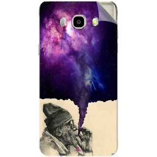 Snooky Printed old man smoking weed Pvc Vinyl Mobile Skin Sticker For Samsung Galaxy J7 (2016)