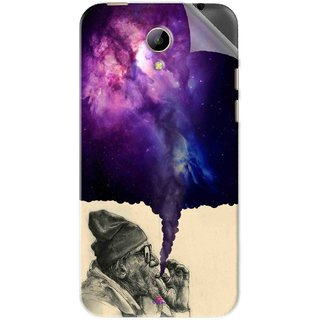 Snooky Printed old man smoking weed Pvc Vinyl Mobile Skin Sticker For Intex Aqua 4g Plus