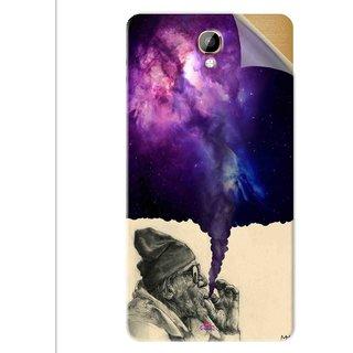Snooky Printed old man smoking weed Pvc Vinyl Mobile Skin Sticker For Intex Aqua Dream 2