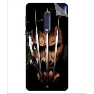 Snooky Printed x men origins wolverine Pvc Vinyl Mobile Skin Sticker For Nokia 5