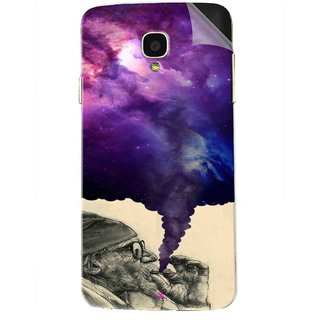 Snooky Printed old man smoking weed Pvc Vinyl Mobile Skin Sticker For Micromax Bolt Q325