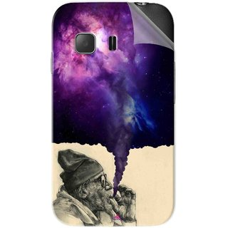 Snooky Printed old man smoking weed Pvc Vinyl Mobile Skin Sticker For Samsung Galaxy Young 2