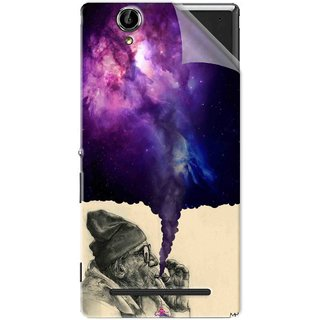 Snooky Printed old man smoking weed Pvc Vinyl Mobile Skin Sticker For Sony Xperia T2 Ultra