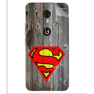 Snooky Printed Wood Super man Pvc Vinyl Mobile Skin Sticker For Gionee A1