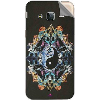 Snooky Printed Om Lord religious Pvc Vinyl Mobile Skin Sticker For Samsung Galaxy J3 Pro