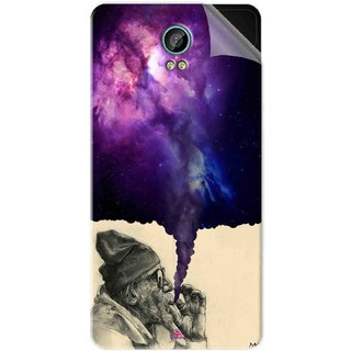Snooky Printed old man smoking weed Pvc Vinyl Mobile Skin Sticker For Intex Aqua Life 2