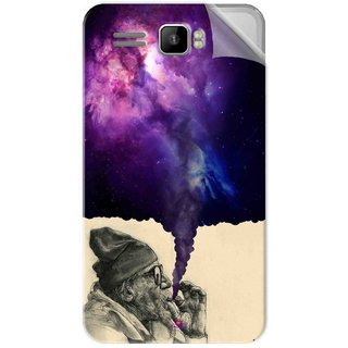 Snooky Printed old man smoking weed Pvc Vinyl Mobile Skin Sticker For Intex Aqua R3 Plus