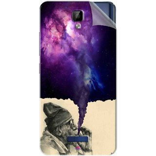 Snooky Printed old man smoking weed Pvc Vinyl Mobile Skin Sticker For Gionee P7 Max