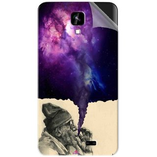 Snooky Printed old man smoking weed Pvc Vinyl Mobile Skin Sticker For Intex Aqua Y2 1G