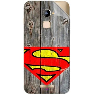 Snooky Printed Wood Super man Pvc Vinyl Mobile Skin Sticker For Coolpad Note 3 Lite