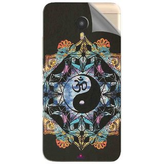 Snooky Printed Om Lord religious Pvc Vinyl Mobile Skin Sticker For Micromax YU Yunicorn