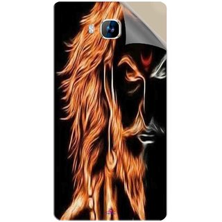 Snooky Printed shivaji maharaj image 3d Pvc Vinyl Mobile Skin Sticker For LYF Wind 2