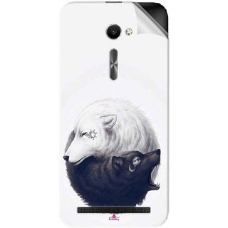 Snooky Printed Yin Yang White Pvc Vinyl Mobile Skin Sticker For Asus Zenfone 2 ZE500CL 5.0