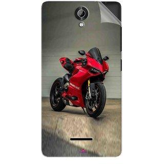 Snooky Printed panigale 1199 Motor cycle bike Pvc Vinyl Mobile Skin Sticker For Micromax Bolt Q332