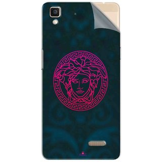 Snooky Printed Versace Pvc Vinyl Mobile Skin Sticker For Oppo R7