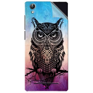 Snooky Printed warrior owl Pvc Vinyl Mobile Skin Sticker For Vivo Y51L