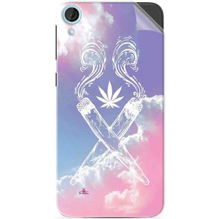 Snooky Printed weed for girls Pvc Vinyl Mobile Skin Sticker For HTC Desire 820