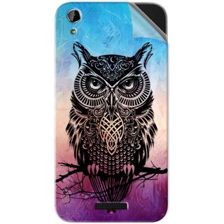 Snooky Printed warrior owl Pvc Vinyl Mobile Skin Sticker For Lava X1 Atom