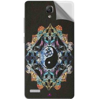 Snooky Printed Om Lord religious Pvc Vinyl Mobile Skin Sticker For Xiaomi Redmi Note Prime