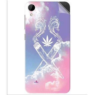 Snooky Printed weed for girls Pvc Vinyl Mobile Skin Sticker For Htc Desire 825