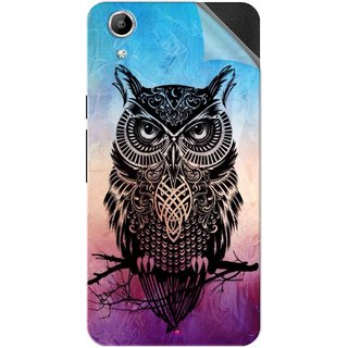 Snooky Printed warrior owl Pvc Vinyl Mobile Skin Sticker For Micromax Canvas Selfie Lens Q345